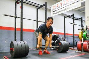 deadlift, bumper plates, strength training, barbell training, strength gym, barbell gym, starting strength